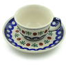 5 oz Stoneware Cup with Saucer - Polmedia Polish Pottery H7234C