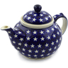 51 oz Stoneware Tea or Coffee Pot - Polmedia Polish Pottery H0969D