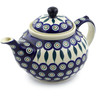 51 oz Stoneware Tea or Coffee Pot - Polmedia Polish Pottery H6039C