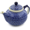 51 oz Stoneware Tea or Coffee Pot - Polmedia Polish Pottery H6455C