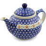 51 oz Stoneware Tea or Coffee Pot - Polmedia Polish Pottery H7200D