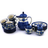 51 oz Stoneware Tea or Coffee Set for Six - Polmedia Polish Pottery H6508G