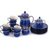 51 oz Stoneware Tea or Coffee Set for Six - Polmedia Polish Pottery H9287G