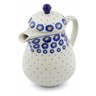 52 oz Stoneware Pitcher with Lid - Polmedia Polish Pottery H0356J