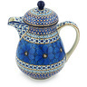 52 oz Stoneware Pitcher with Lid - Polmedia Polish Pottery H8696G