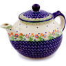 52 oz Stoneware Tea or Coffee Pot - Polmedia Polish Pottery H0395C