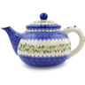 52 oz Stoneware Tea or Coffee Pot - Polmedia Polish Pottery H1424J
