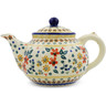 52 oz Stoneware Tea or Coffee Pot - Polmedia Polish Pottery H2680J