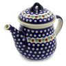 52 oz Stoneware Tea or Coffee Pot - Polmedia Polish Pottery H5003C