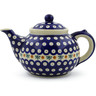 52 oz Stoneware Tea or Coffee Pot - Polmedia Polish Pottery H6636F