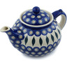 52 oz Stoneware Tea or Coffee Pot - Polmedia Polish Pottery H9765H