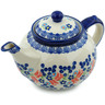 52 oz Stoneware Tea or Coffee Pot - Polmedia Polish Pottery H9830H