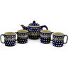 52 oz Stoneware Tea or Coffee Set for Four - Polmedia Polish Pottery H9993J