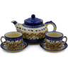 52 oz Stoneware Tea or Coffee Set for Two - Polmedia Polish Pottery H1562K