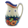 54 oz Stoneware Pitcher - Polmedia Polish Pottery H4213J