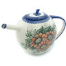 55 oz Stoneware Tea or Coffee Pot - Polmedia Polish Pottery H9385H