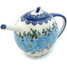 55 oz Stoneware Tea or Coffee Pot - Polmedia Polish Pottery H9388H