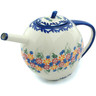 55 oz Stoneware Tea or Coffee Pot - Polmedia Polish Pottery H9443H