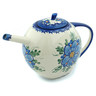 55 oz Stoneware Tea or Coffee Pot - Polmedia Polish Pottery H9444H