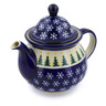 57 oz Stoneware Tea or Coffee Pot - Polmedia Polish Pottery H4221I