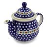 57 oz Stoneware Tea or Coffee Pot - Polmedia Polish Pottery H5075C
