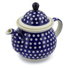 57 oz Stoneware Tea or Coffee Pot - Polmedia Polish Pottery H5486C