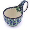 6-inch Stoneware Bowl with Handles - Polmedia Polish Pottery H0206G