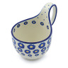 6-inch Stoneware Bowl with Handles - Polmedia Polish Pottery H0334J