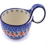6-inch Stoneware Bowl with Handles - Polmedia Polish Pottery H0604G