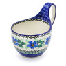 6-inch Stoneware Bowl with Handles - Polmedia Polish Pottery H1631H