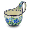 6-inch Stoneware Bowl with Handles - Polmedia Polish Pottery H1827J