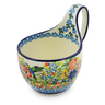 6-inch Stoneware Bowl with Handles - Polmedia Polish Pottery H1849J