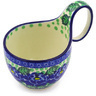 6-inch Stoneware Bowl with Handles - Polmedia Polish Pottery H2158F