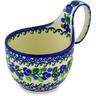 6-inch Stoneware Bowl with Handles - Polmedia Polish Pottery H2243D