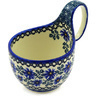 6-inch Stoneware Bowl with Handles - Polmedia Polish Pottery H2276D
