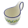 6-inch Stoneware Bowl with Handles - Polmedia Polish Pottery H2375J