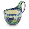 6-inch Stoneware Bowl with Handles - Polmedia Polish Pottery H3314G