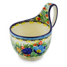 6-inch Stoneware Bowl with Handles - Polmedia Polish Pottery H3555J