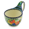 6-inch Stoneware Bowl with Handles - Polmedia Polish Pottery H3576J