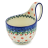 6-inch Stoneware Bowl with Handles - Polmedia Polish Pottery H3630K