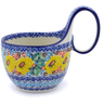 6-inch Stoneware Bowl with Handles - Polmedia Polish Pottery H3926I