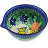 6-inch Stoneware Bowl with Spout - Polmedia Polish Pottery H4674G