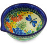 6-inch Stoneware Bowl with Spout - Polmedia Polish Pottery H4711G
