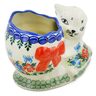 6-inch Stoneware Bunny Shaped Jar - Polmedia Polish Pottery H4571K