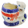 6-inch Stoneware Bunny Shaped Jar - Polmedia Polish Pottery H4605K