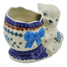 6-inch Stoneware Bunny Shaped Jar - Polmedia Polish Pottery H5993K