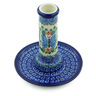 6-inch Stoneware Candle Holder - Polmedia Polish Pottery H1576B
