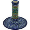 6-inch Stoneware Candle Holder - Polmedia Polish Pottery H9168G