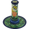 6-inch Stoneware Candle Holder - Polmedia Polish Pottery H9425G