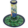6-inch Stoneware Candle Holder - Polmedia Polish Pottery H9432G